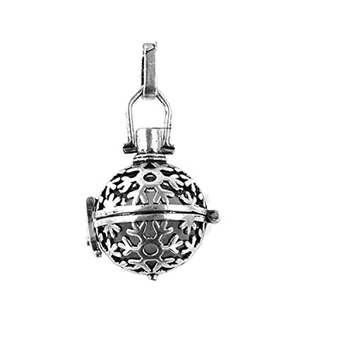 1 Pc Cage Music Ball Prenatal Edutation Baby Aromatherapy Essential Oil Diffuser Necklace Locket Pendant for DIY,A6