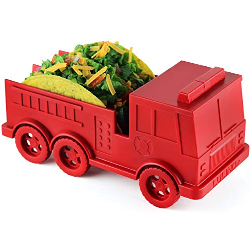 (LULIND - Fire Truck Taco Holder for Kids, Novelty Taco Stand (1 Pack))