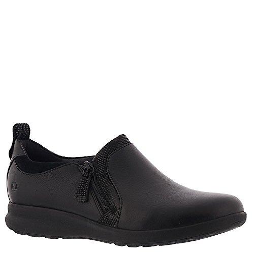 - CLARKS Women's Un Adorn Zip Black Leather/Suede Combination 7.5 B US