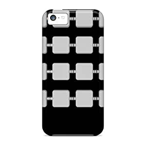Waterdrop Snap-on Black Case For Iphone 5c