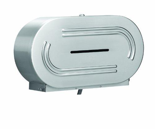 Jumbo Roll Holder (Bradley 5425-000000 18 Gauge Stainless Steel Jumbo Dual Roll Toilet Tissue Dispenser, 20-9/16