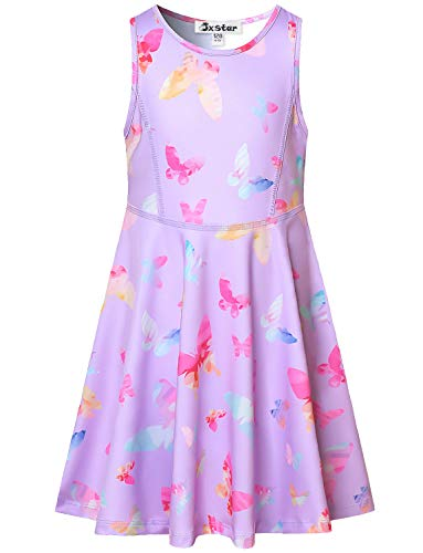 Sleeveless Butterfly Dresses for Little Girls Casual Summer Sun Dresses Outfits ()