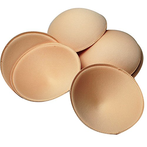 1a1b486080ca0 TopBine 3 pairs Round Soft Bra Inserts Pads Removable Sport Bra Cups inserts  Mastectomy Bra Inserts