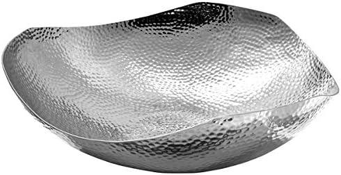 Edelstahl Schale /ØxH : 44 x 13 cm Obstschale geh/ämmert - Fink Mephisto Dekoschale