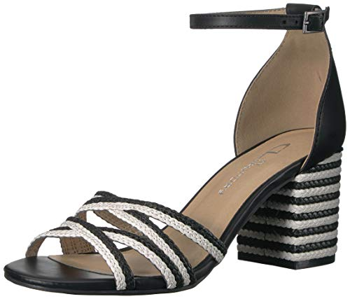 CL by Chinese Laundry Women's JUMPOFF Heeled Sandal White/Black 6 M US