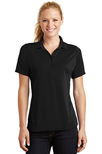 Sport-Tek Ladies Dry Zone Raglan Accent Polo, Small, Blk