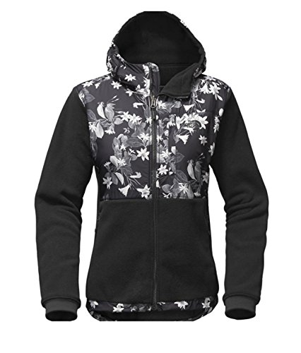 The North Face Women Denali Hoodie in Black Late Bloomer Print in Small