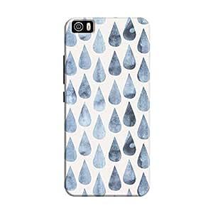 Cover It Up - Raindrops Print Denim Mi5 Hard Case