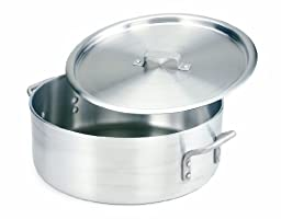 Crestware Extra Heavy Weight Aluminum Braziers with Pan Covers, 10 Quart