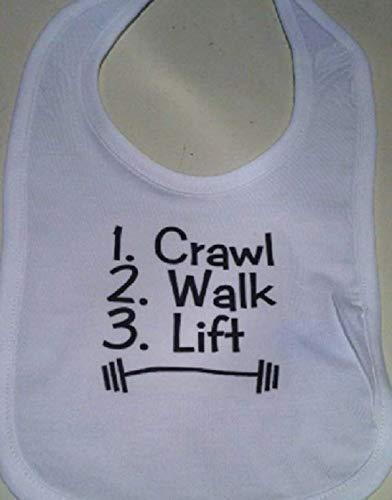 Crawl walk lift funny bib infant baby boy bib exercise baby