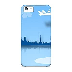 For Iphone 4/4s (rainbow City) Personal cell phone For Iphone Cases covers yueya's case