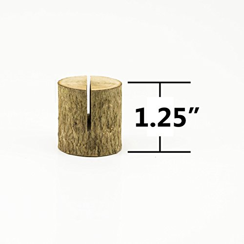 Happy Magnolia 12 Pack Wooden Place Card Holders With Bonus 12 Place Cards For Wedding Home Business Birthday Party Decorations Table Numbers Made From All Natural Hardwood by Happy Magnolia (Image #4)
