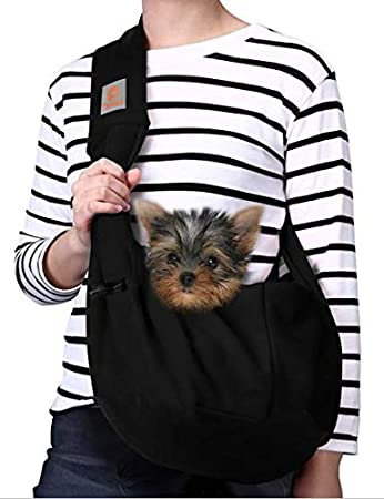 TOMKAS Dog Carrier for Small Dogs - Soft Reversible Pet Sling Carrier Bag