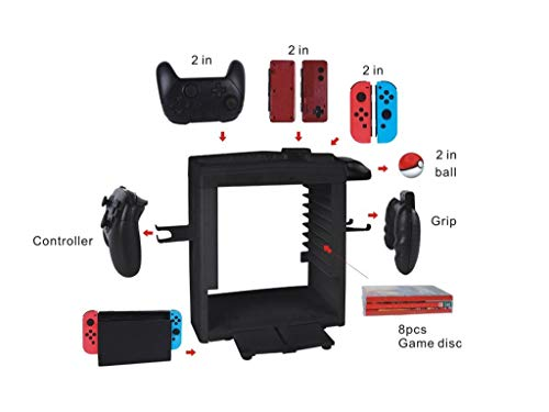 Winner666 Fashion Multi-Function Charging Dock Cradle Game Disc Stand Storage Holder for N-Switch ()