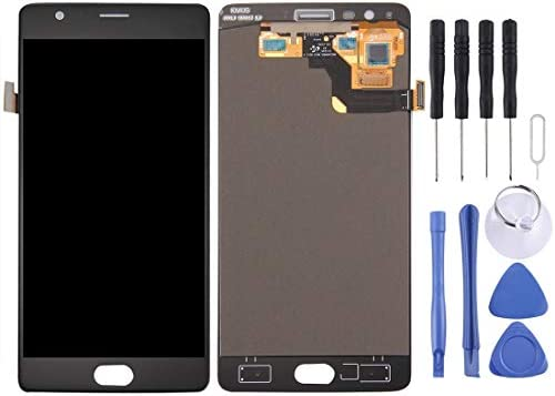 Black Color : Black Touch Screen and Digitizer Full Assembly for OnePlus 3T Digital Mobile Phone Replacement LCD Screen