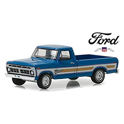 New DIECAST Toys CAR Greenlight 1:64 Hobby Exclusive - 1976 Ford F-100 Bicentennial Option Group (Bahama Blue) 29966: Toys & Games