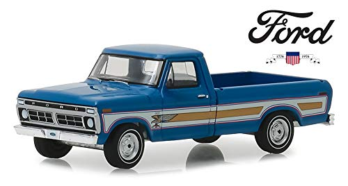 DIECAST Greenlight 1:64 Hobby Exclusive 29966 by Greenlight 1976 Ford F-100 Bicentennial Option Group Bahama Blue