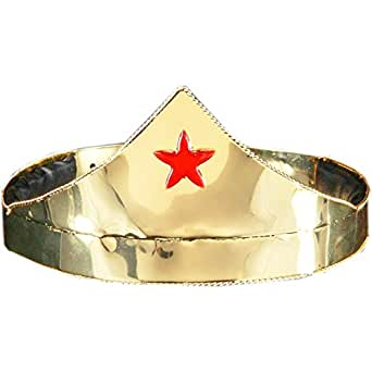 elope Star Crown Costume, Gold/Red, One Size