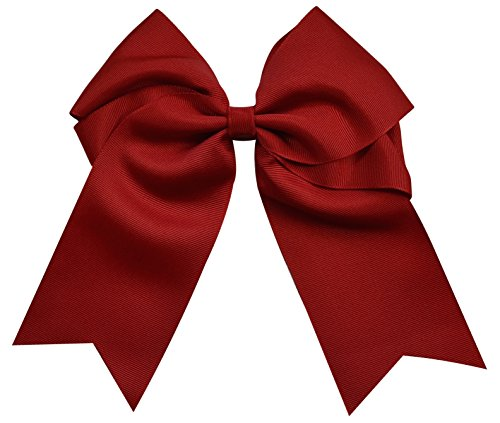 [Funny Girl Designs Extra Large Classic Uniform Cheer Bow - Choose Your Color! (Red)] (Plus Size Cheerleader Uniforms)