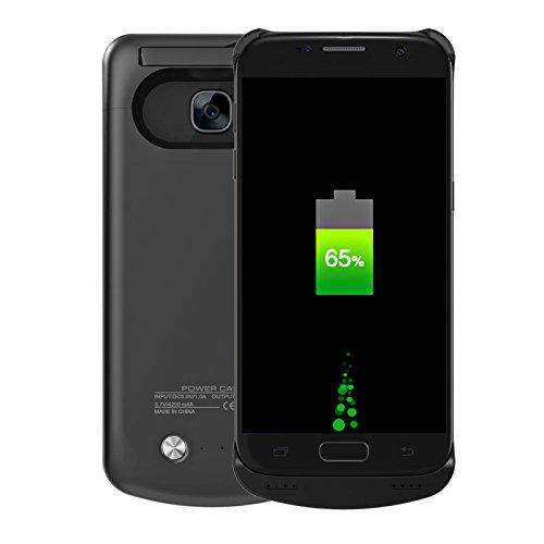 Custodia Batteria Samsung Galaxy S7,CASEWIN 4200mAh Li-Polymer Caricabatterie portatile Pack Ricaricabile Esterna Power Bank Integrata Charger Prottetiva Case Cover per Samsung Galaxy S7