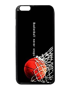 Basketball Never Stops Photo Hard Case , Fashion Image Case Diy, Personalized Custom Durable Case For iPhone 6 Plus -5.5