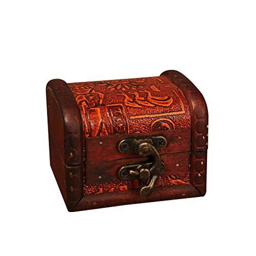Amazon.com: Caja de joyería Alimao de madera vintage hecha a ...