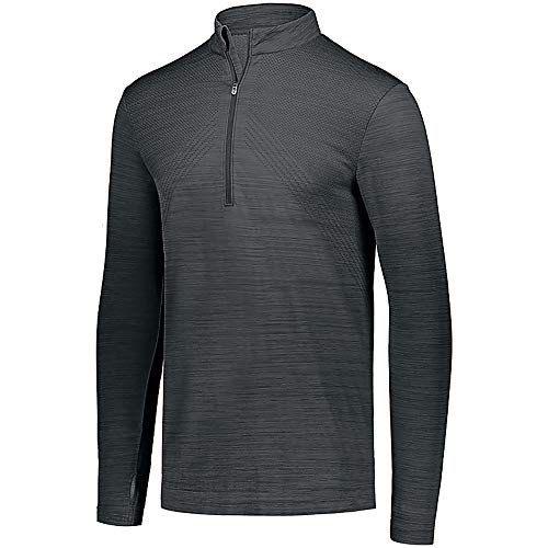Holloway Striated 1/2 Zip Pullover, Graphite, X-Large