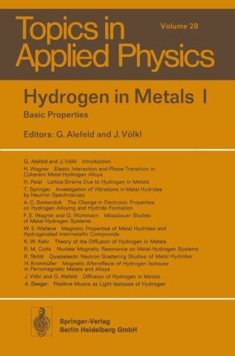 Hydrogen in Metals I: Basic Properties: 1 (Topics in Applied Physics)