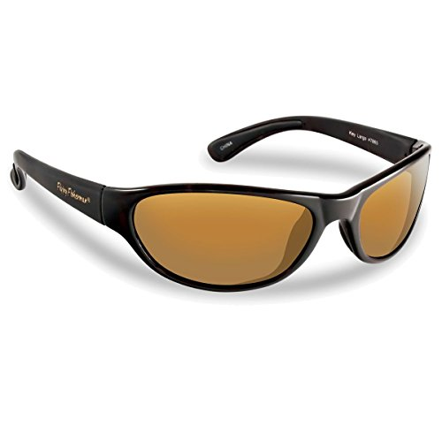 Flying Fisherman Key Largo Polarized Sunglasses (Matte Black Frame, Amber - Sunglasses Willy