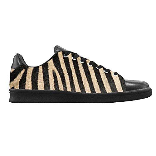 Dalliy zebra stripe Mens Canvas shoes Schuhe Lace-up High-top Footwear Sneakers A