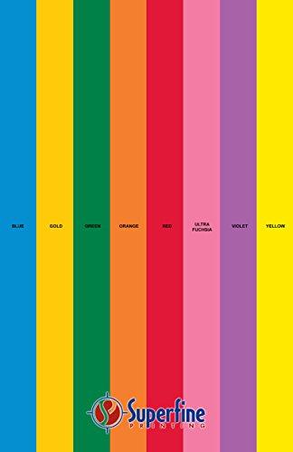 Bright Color Paper 8 Assortment Colors of 25 Each, 24 Lb, , 200 Sheets (11 x 17)