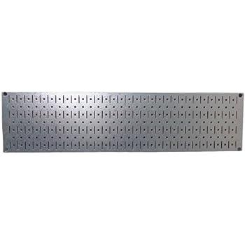 "Wall Control 30-GP-0832 GV Narrow 8"" x 32"" Galvanized Metal Pegboard Runner Tool Board"
