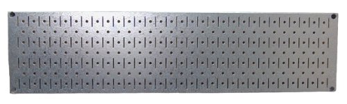 Wall Control 30-GP-0832 GV Narrow 8'' x 32'' Galvanized Metal Pegboard Runner Tool Board by Wall Control