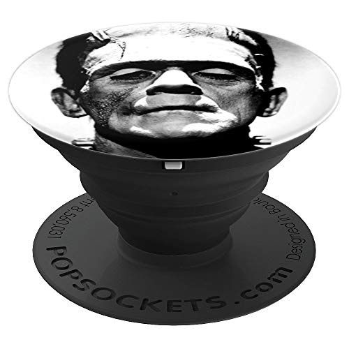 FRANKENSTEIN Classic Horror Movies - Gothic Halloween Photo - PopSockets Grip and Stand for Phones and Tablets ()