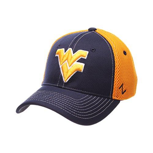 NCAA West Virginia Mountaineers Men's Rally Z-Fit Cap, X-Large, Navy/Gold