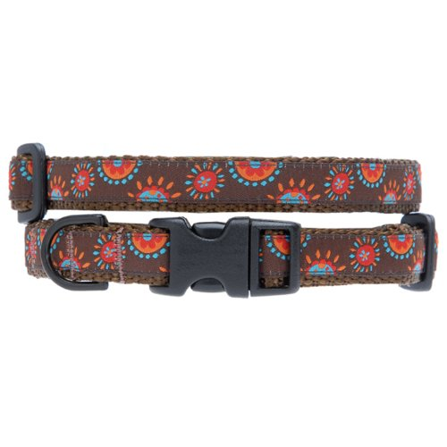 Max & Zoey Sunshine Dog Collar, Large, Brown