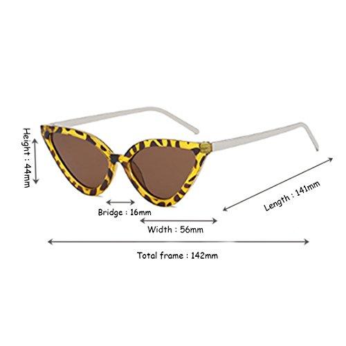 Eye Aiweijia de Gafas Cat de para sol de Vintage mujer Retro Gafas sol Gafas Flor Frijol 6x4rIn4XAw
