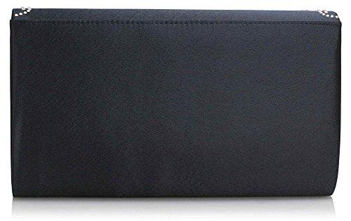 Large Diamante Design 2 New Clutch Envelope Navy Purse Handbag Womens Ladies Flap Shoulder Bags Long Luxury HrHxqPwFa