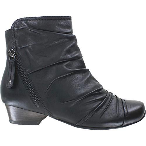 Ziera Women's Crystal Black Leather 37.5 Medium (Ziera Shoes)