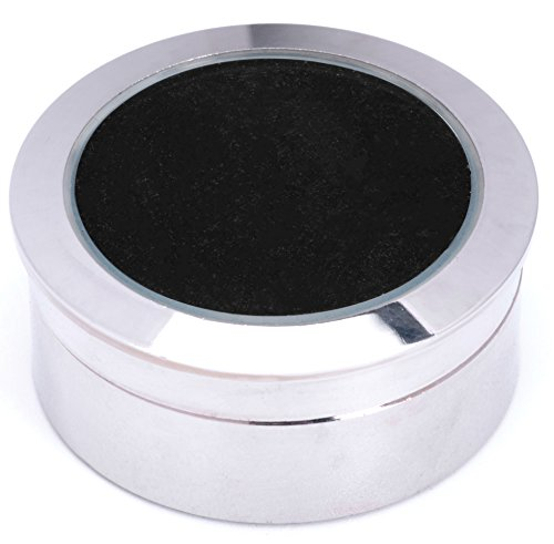 Mini Diameter 1.3 inch Loose Diamond or Gemstone Display Box Case Holder Show Container Metal(Silver)