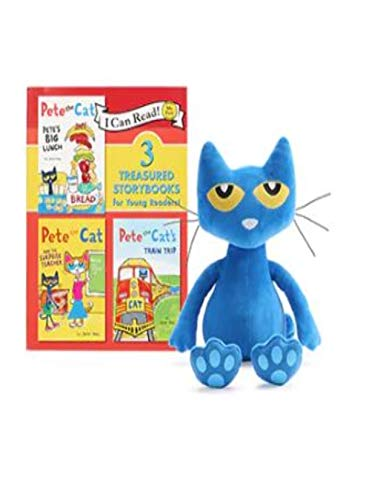 Kohl's Cares Pete The Cat Stuffed Plush Animal and I Can Read Book with 3 Stories]()