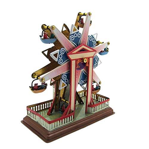 (Binory Photography/Window Display Props Iron Retro Ferris Wheel,Tinplate Nostalgic Clockwork Chain Toy for Personality Birthday Children's Day Gift for Kids,Clockwork Style Decoration)