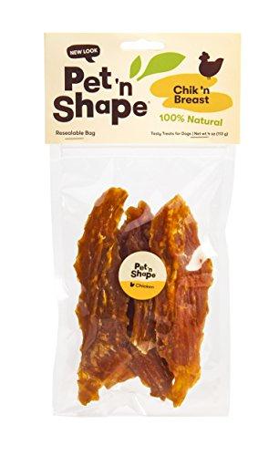 Pet 'n Shape - Chik 'n Breast - 100-Percent Natural Chicken Jerky Dog Treats, 4-Ounce by Pet 'n Shape