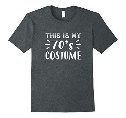 70s Costumes Ideas For Men (Mens Funny THIS IS MY 70s COSTUME Halloween T-Shirt Medium Dark Heather)