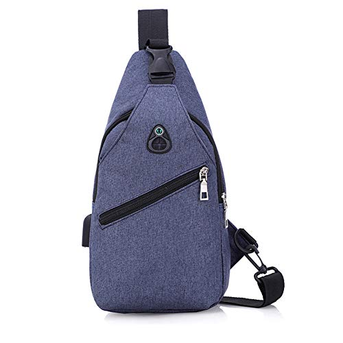 Blue shoulder Men Usb Backpack Goal amp; Wind Bags Sling crossbody Port For With Bag Women Charging qTtw8Zw7