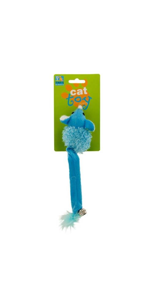 Cat Toy Mouse with Bell and Feathers - Set of 24