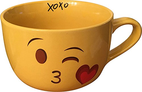 Emoji Kiss Wink Face Coffee Mug XL