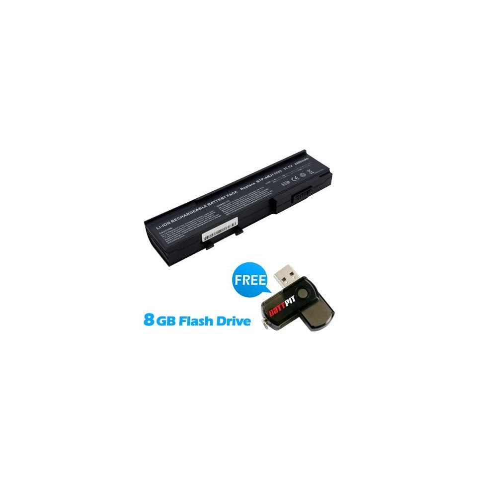 Battpit™ Laptop / Notebook Battery Replacement for Acer Aspire 5541ANWXMi (4400mAh / 49Wh) with FREE 8GB Battpit™ USB Flash Drive