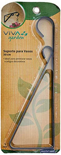 Suporte Decorado para Vasos Vivagarden Preto 30 cm