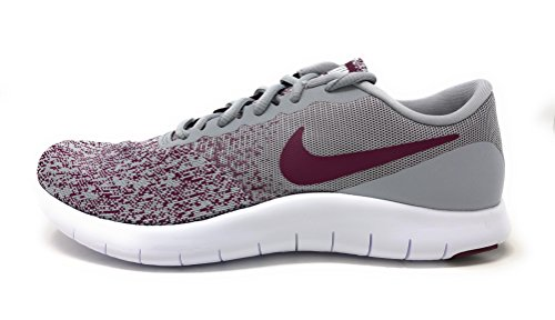 aee381e4a726 Nike Womens Flex Contact Wolf Grey Bordeaux-White Running Shoe 8.5 Women US